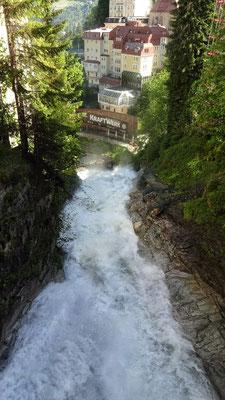 Blick nach unten in Bad Gastein