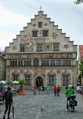 Schöner Häuser auf der Insel Lindau