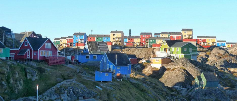 Viele bunte Häuser