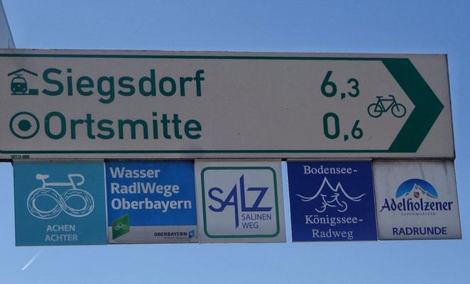 Endlich der Radwegweiser - Königssee