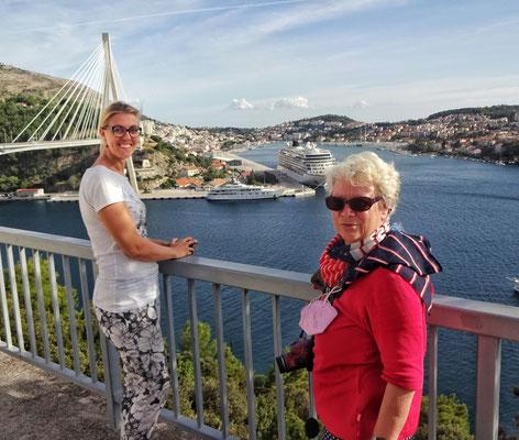 ...mit Ivana, Kreuzfahrtschiff und Elisabeth