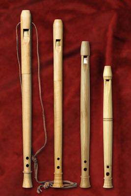 flûtes médievales, modèles Dordrecht