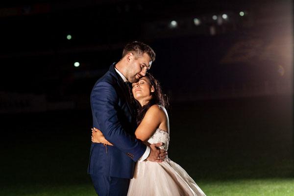 Hochzeitsfotografie im Eintracht Stadion