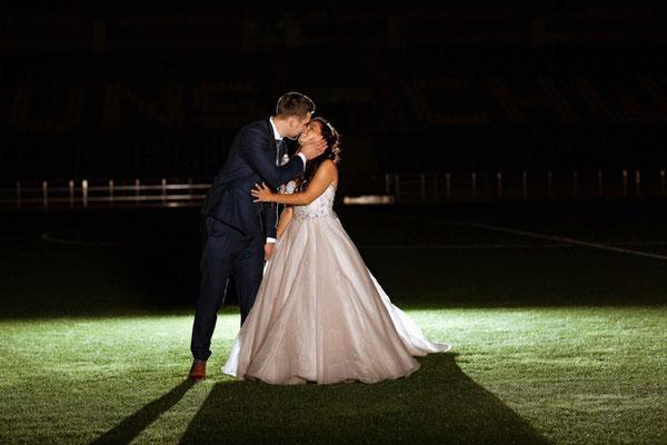 Hochzeitsfotograf im Eintracht Stadion