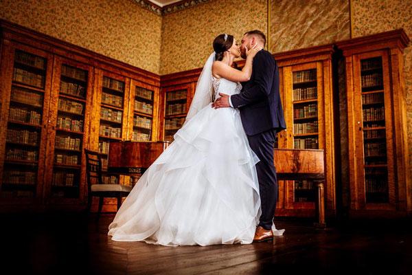 Brautpaar im Klavierzimmer