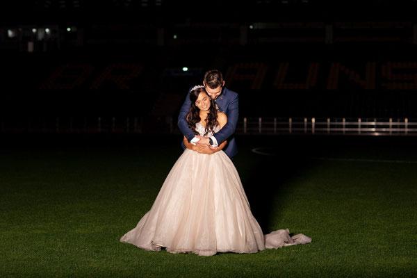 Hochzeitsfotos im Eintracht Stadion Braunschweig