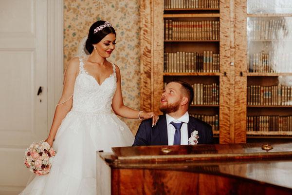Authentische Hochzeitsfotografie Schloss Corvey