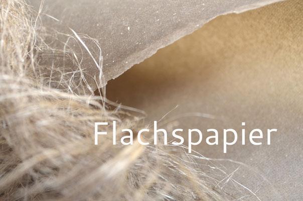 Handgeschöpftes Flachspapier