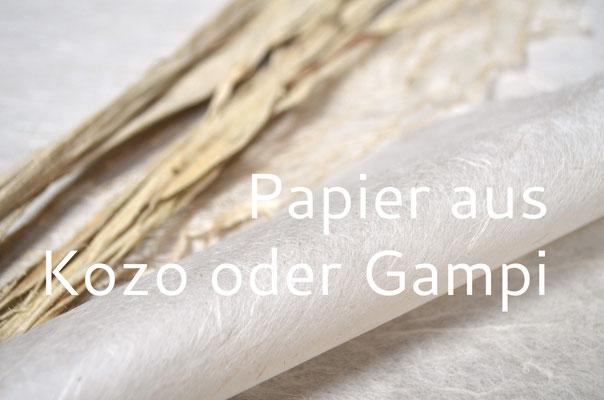 Handgeschöpftes Papier aus Kozo oder Gampi