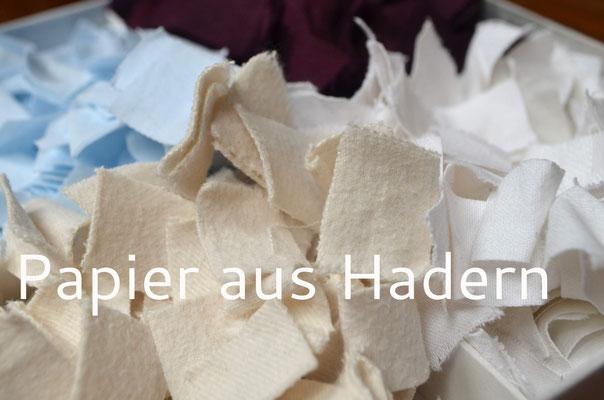 Handgeschöpftes Papier aus Hadern