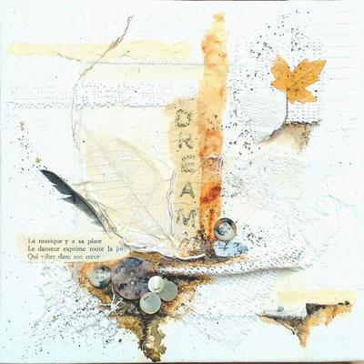 Dream II - mixture sur toile 20x20 3D - 50€ - ©B. Dupuis