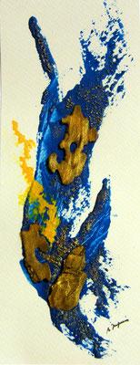 Splash - techniques mixtes sur papier (collection privée) ©B.Dupuis