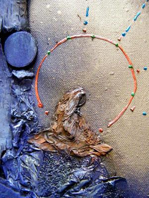 Les Passeurs de Rêves (détail). 50x100cm (vendu) ©B.Dupuis