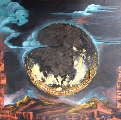 Luna Mars (50x50cm - vendu) ©B.Dupuis