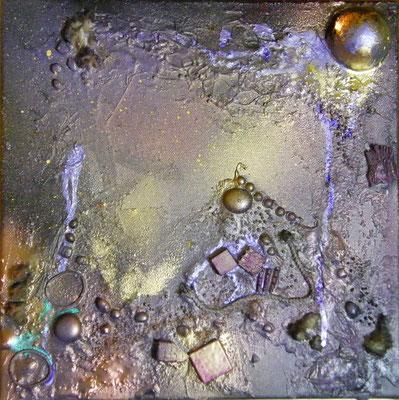 Balade au clair de lune - 3 (30x30cm sur toile - vendu) ©B.Dupuis