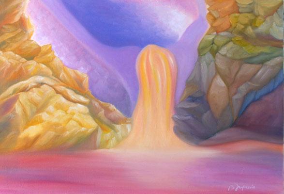 Naissance d'un Ange  (Huile sur toile 38x46 cm - 300€) - © B. Dupuis