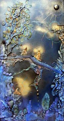 Les Passeurs de Rêves. 50x100cm (vendu) ©B.Dupuis