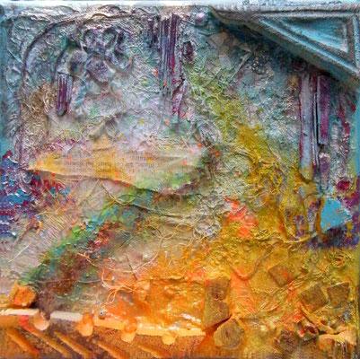 Un bout de chemin II - Mixte sur toile (20x20cm - 40€) @B. Dupuis