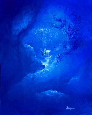 Jardin secret  (Huile sur toile 41x27 cm - collection privée) - © B. Dupuis