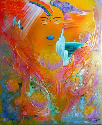 Rêve de paix (mixte sur toile -55x60 cm - 280€ ) ©B.Dupuis