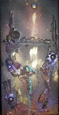 Balade au clair de lune - 2 (20x40cm sur toile - vendu) ©B.Dupuis