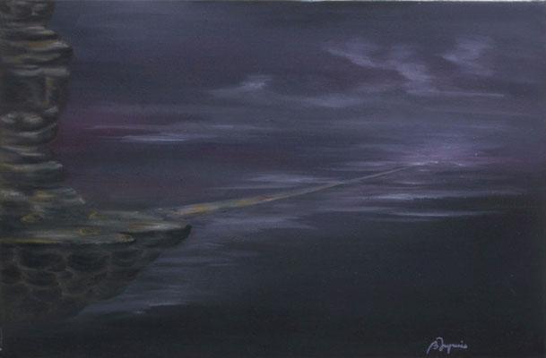 La Passerelle  (Huile sur toile 41x27 cm - 220€) - © B. Dupuis
