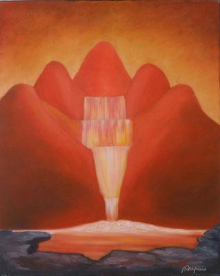 Derrière la Cascade  (Huile sur toile 33x41 cm -200€) - © B. Dupuis