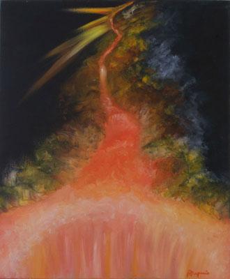 De la Fission à la Fusion (Huile sur toile 38x46 cm - 300€) - © B. Dupuis