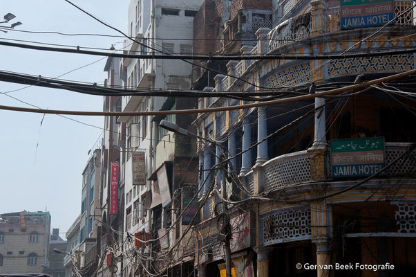 Straatbeeld New Dehli