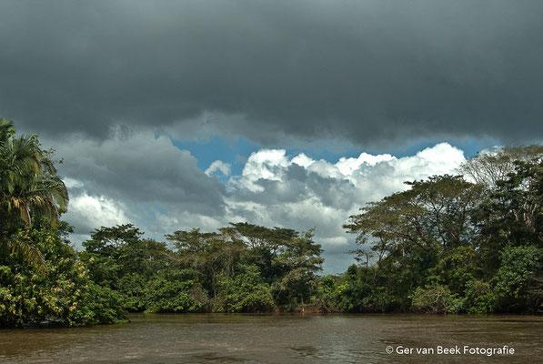 Dreigende regenbui