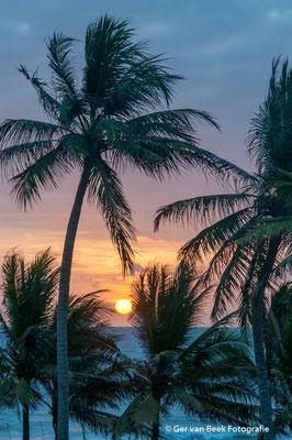 Zonsondergang strand Negombo