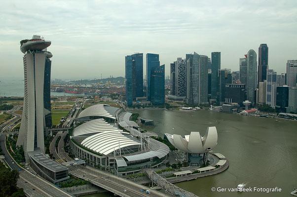 Zicht vanaf de Singapore flyer