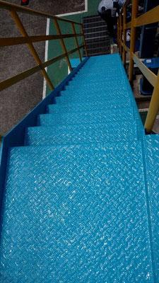 製紙工場の錆劣化 防錆剤CCP-117塗布