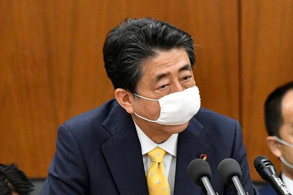 安倍首相 アベノマスク