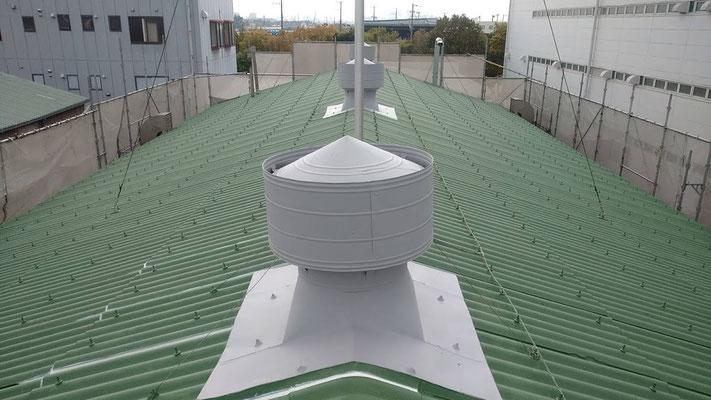 熱交換塗料 スレート屋根 塗布 完工