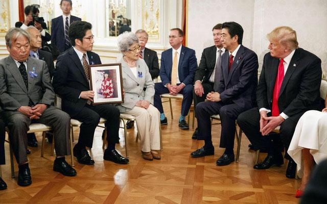 横田佐紀江さんトランプ大統領に面談 アメリカ