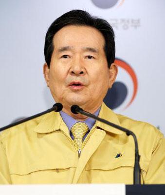 韓国の首相 陣頭指揮
