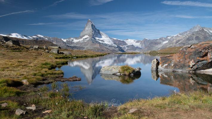 14.09.2019 - Wallis - Zermatt - Aussicht auf Matterhorn am Stellisee