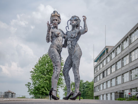 19.05.2018 Event Fotoclub Zürisee - Bodypainting: Ramona Vörös & Natascha Vörös, Modele: Chantal Signer & Janine Gottsponer, Kopfteile: Fredi Schmid