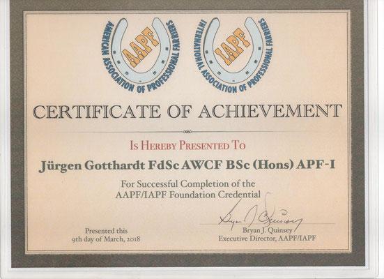 Nach Einem Jahr Berufsbegleitendem Studieren Und 395 Fragen Zur Examensprufung Erhalte Ich APF 1 Level
