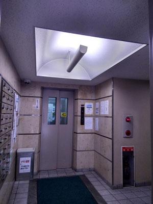 1Fエレベータ前の照明@菱和パレス中目黒管理組合ブログ