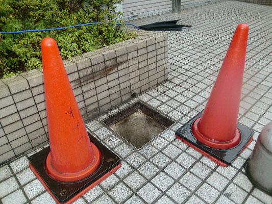 排水桝蓋の改修@菱和パレス中目黒/株式会社クレアスコミュニティー