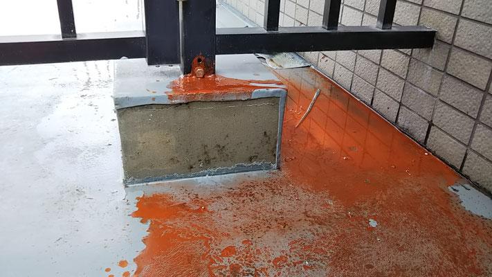屋上アルミ柵土台の防水補修工事@菱和パレス中目黒管理組合ブログ