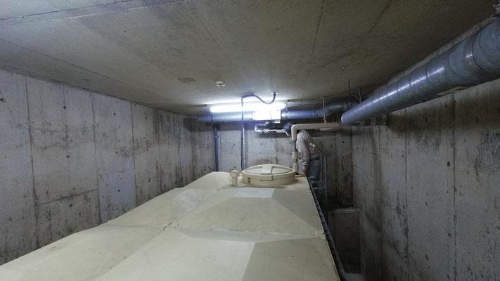 地下1Fポンプ室内給水管のメンテナンス工事終了@菱和パレス中目黒管理組合ブログ