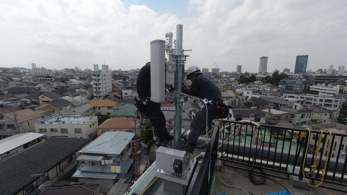 楽天モバイル基地局工事終了@菱和パレス中目黒管理組合ブログ