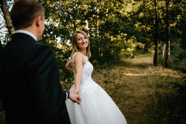 Hochzeitsfoto Brautpaar Hotel Heide Kröpke