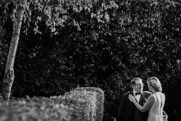 Hochzeitsfoto Brautpaar Zum alten Krug Schneverdingen