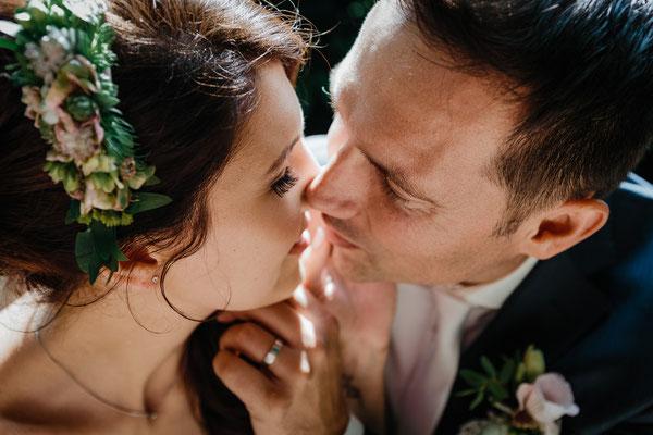 Hochzeitsfoto Brautpaar Schlosspark Celle