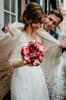 Hochzeitsfoto Brautpaar Altstadt Celle