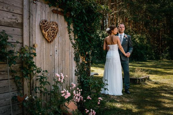 Hochzeitsfoto Brautpaar  Wittlohe